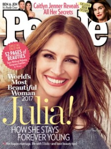 Julia Roberts named People Magazine's 'most beautiful' for record 5th time