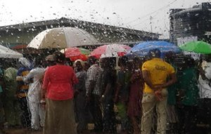 Jubiliation in Zaria as it rains for the first time this year