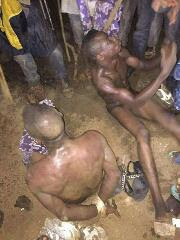 Robbers terrorising and guilty of rape in Ogun state caught and stripped naked