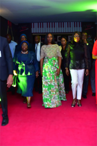 In support of patronizing 'Made in Nigerian' products, Dolapo Osibanjo rocks 1,800 naira outfit