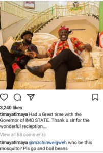 """""""Who is this mosquito """"?- Timaya blasts fan who tried to correct his spelling"""