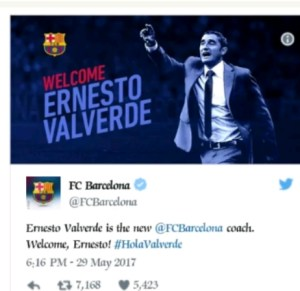 FC Barcelona appoints new coach