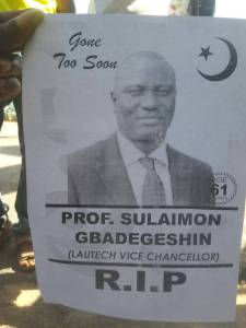 LAUTECH students post obituary who their VC who is still very much alive