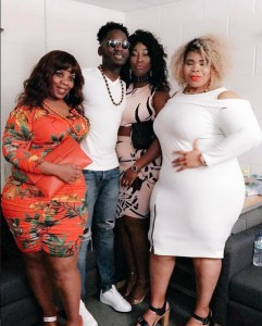 The bigger, the better, Mr. Eazi pose with some Big, Bold and Beautiful women