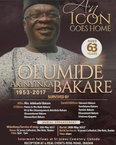 , Obsequies of actor ,Olumide Bakare released, Effiezy - Top Nigerian News & Entertainment Website