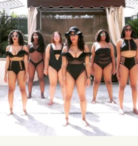 Get in the Formation: Bride and her friends rock bikini for bridal shower