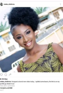 Chidinma Okeke returns to IG after sex tape video