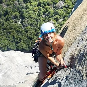 Excitement as man and woman strip naked in broad daylight to climb famous mountain (Photos)