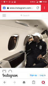 Dammy Krane chilling in a private jet before his arrest