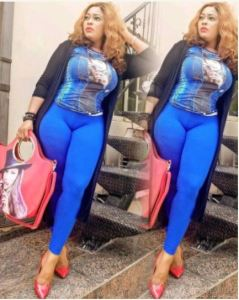 Fans frown at actress Biodun Okeowo over photo posted on Instagram