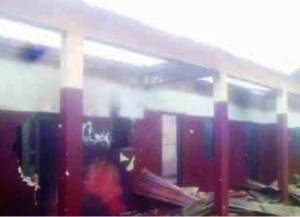 Tension and pandemonium as angry community youths set Catholic school ablaze in Delta