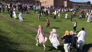 BREAKING: Car crashes into Muslims celebrating Eid el Fitri in Newcastle. Six people hurt
