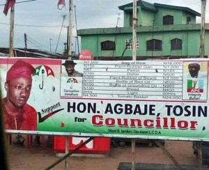 Too Hilarious! This campaign billboard of a politician in Lagos is a must-see (Photo)