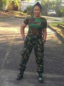 Beautiful female Nigerian soldier who is a rice farmer (Photos)
