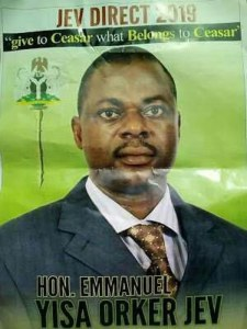 Hilarious poster of Presidential candidate seen in Benue State. (Photo)