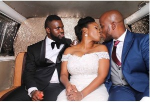 Best man mean stare at new couple as they kiss (Photo)