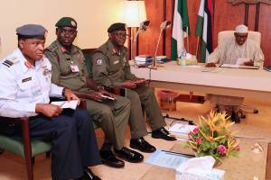 In Pictures: See photos of President Buhari working from home