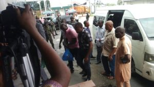 Court remands police officer who aided escape of child killer in Rivers (Photos)