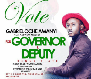 Campaign posters of Terry G for governor flood Benue