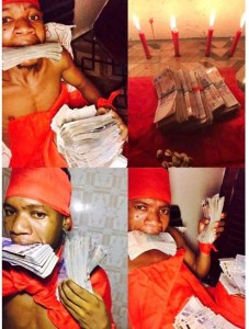 Succeed or Die! – Suspected fraudster living lavish says as he shows off his shrine on Facebook (Photos/Video)