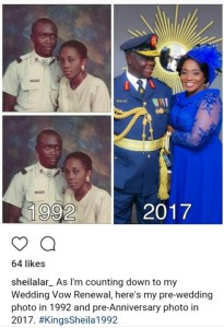 Couple Compare Their 'Then & Now' Photos As They Mark 25th Wedding Anniversary