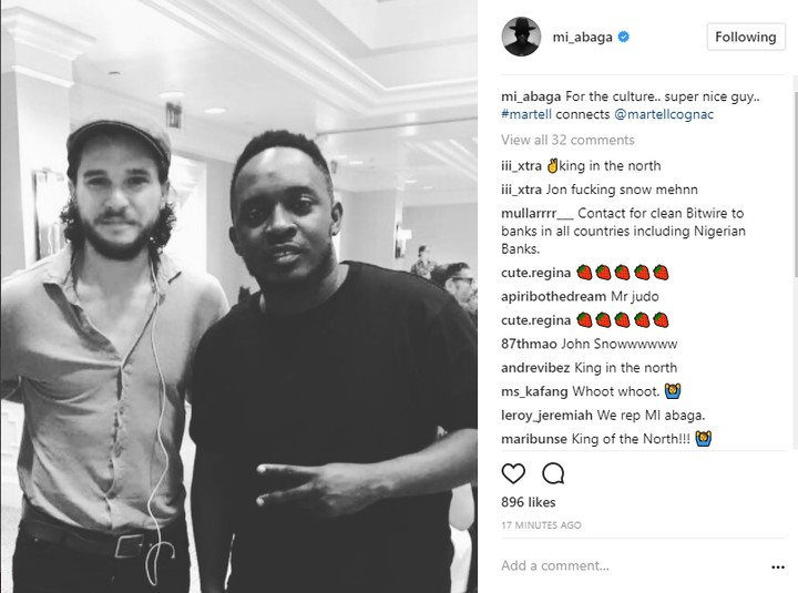 , MI Abaga spotted with Jon Snow of Game Of Thrones (pictures), Effiezy - Top Nigerian News & Entertainment Website