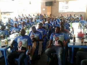 Tony Nwoye & APC supporters chilling in a beer parlour in Anambra (Photos)