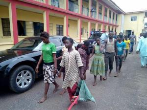 4 underage girls, 9 teenage boys arrested during cult initiation [PHOTOS]