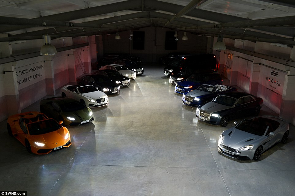 , Inside London's warehouse where Supercars are hired for ₦500,000 per hour (Photos), Effiezy - Top Nigerian News & Entertainment Website