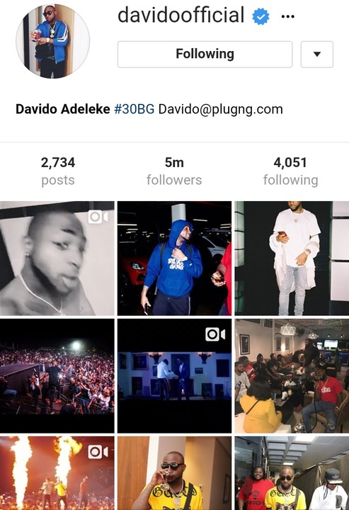 , Davido becomes the most followed Nigerian artiste on Instagram with 5million followers, Effiezy - Top Nigerian News & Entertainment Website