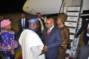 South African President, Jacob Zuma arrives Imo State for a 2-day visit (Photos)