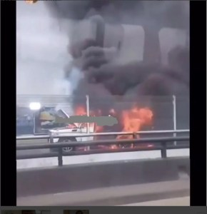Mercedes G-wagon Benz G63 burnt in Lagos (Photos)