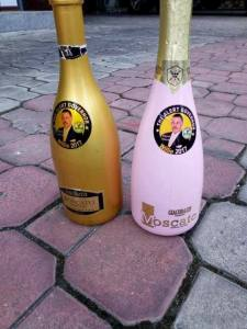 Governor Willie Obiano's Customized Champagnes Ahead Of Anambra Election (Photos)