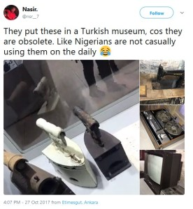 Charcoal iron, TV, sewing machine used in Nigeria kept as artifacts in Turkish museums (Photos)