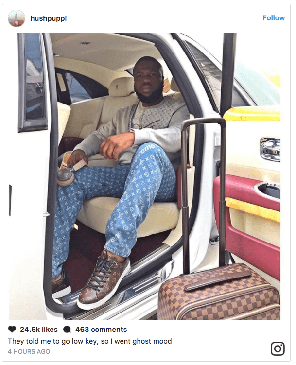 , Hushpuppi pushes Gucci aside, rocks over N1.5m Louis Vuitton clothes with matching shoes and bags (photos), Effiezy - Top Nigerian News & Entertainment Website