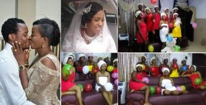 Nigerian Bride dons Towel & Balloon with her friends for her bridal shower. (Photos)
