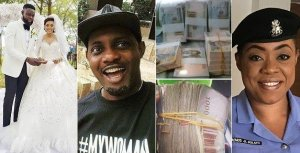 Zonal Police PRO, Dolapo Badmus reacts after Comedian AY showed off the money made from his brother's wedding (VIDEO)