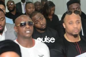 Photos From DJ Olu Abiodun Burial; Davido, B-Red And Special Spesh Attend