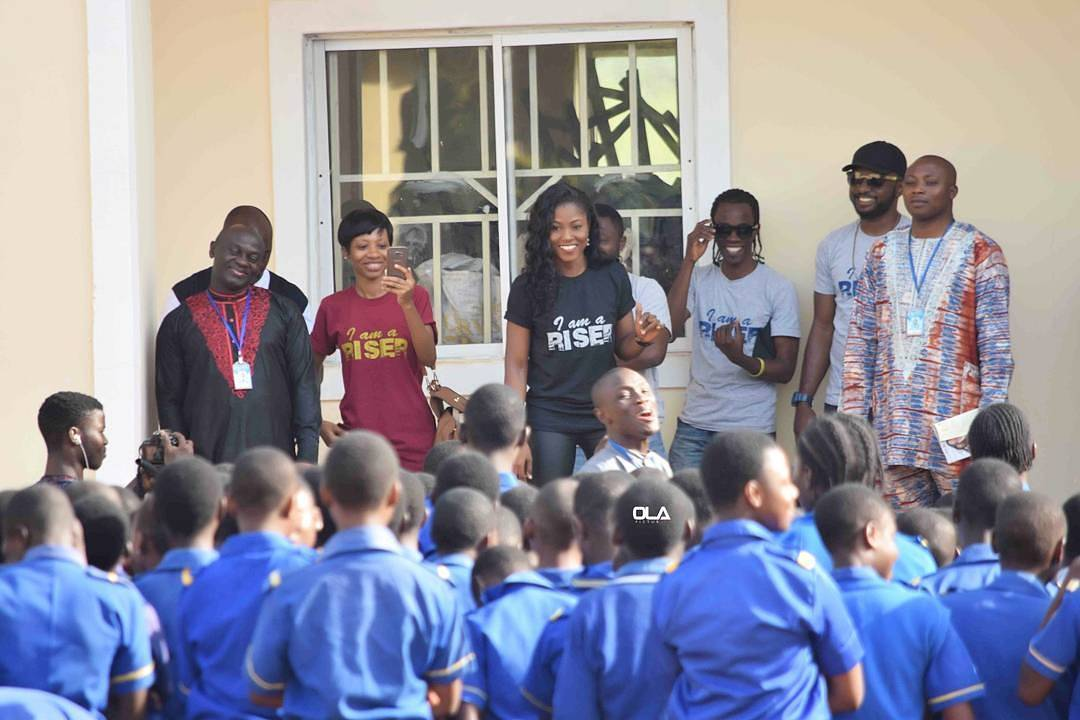 , Debie Rise visits Rochas Foundation College, Jos, presents them with new Guitars, Effiezy - Top Nigerian News & Entertainment Website