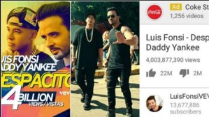 'Despacito' sets new record as it hits 4 Billion YouTube views
