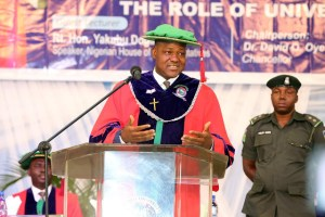 Dogara At 16th Matriculation Ceremony Covenant University (photos)
