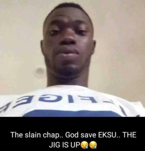 Disturbing Photos: See Ekiti State University Student Hacked to Pieces by Cultists