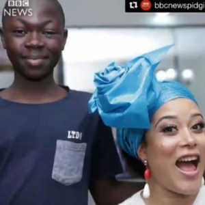 Fatai Azeez featured on BBC News (13-Year-Old Gele And Make Up Expert)