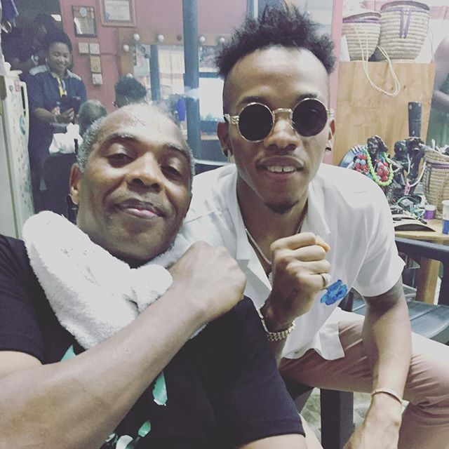 , Femi Kuti, Wizkid, Tekno pictured together at the ongoing Felabration, Effiezy - Top Nigerian News & Entertainment Website