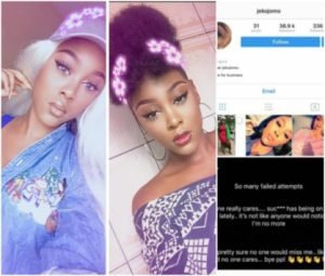 Beautiful Nigerian lady goes missing after threatening to commit suicide on Instagram