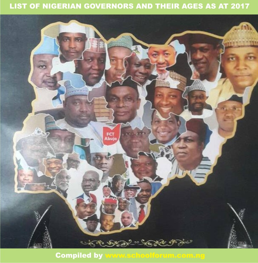 , See List Of Nigerian Governors And Their Ages As At 2017, Effiezy - Top Nigerian News & Entertainment Website