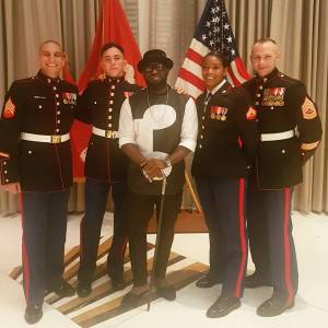, Timaya poses with US marine officers in New York, Effiezy - Top Nigerian News & Entertainment Website