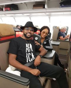 Adesua Etomi & Banky W fly out to Cape Town, South Africa in preparation for their white wedding