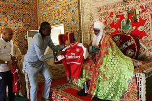Kanu Nwankwo And El-hadji Diouf Visit Emir Sanusi (Photos)