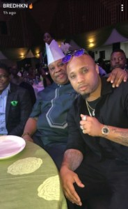 B-Red And His Father, Senator Ademola Adeleke Pictured At An Event